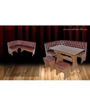 Кухонный угол «Люксор»-  стол  раздвижной